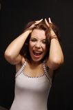 A menina shouting Imagem de Stock Royalty Free