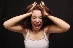 A menina shouting Imagem de Stock
