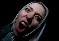 Menina Shouting Imagem de Stock
