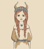 Menina. Sinal astrológico Ilustração do Vetor