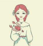 Menina. Sinal astrológico Ilustração Stock