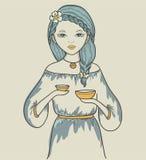 Menina. Sinal astrológico Ilustração Royalty Free