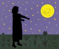Menina Sleepwalking que sofre do sonambulismo Foto de Stock Royalty Free