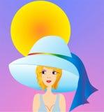 Menina solar Fotografia de Stock Royalty Free