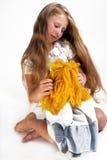 Menina sonhadora Imagem de Stock Royalty Free