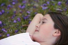 Menina sonhadora Imagens de Stock Royalty Free