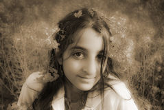 Menina sonhadora Imagens de Stock