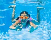 Menina subaquática Imagem de Stock