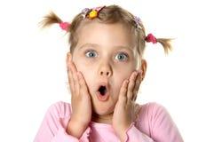 Menina surpreendida Foto de Stock