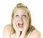 Menina surpreendida Imagem de Stock