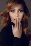 Menina surpreendida da beleza Fotos de Stock Royalty Free