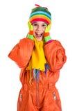 Menina surpreendida em macacões dos esportes Fotos de Stock Royalty Free