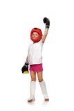 A menina tailandesa do encaixotamento ganhou a competição Fotografia de Stock Royalty Free