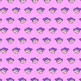 Menina - teste padrão 24 do emoji ilustração royalty free
