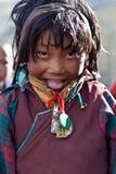 Menina tibetana Foto de Stock
