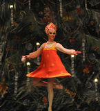 A menina tradicional do russo o segundo do ato reino dos doces do campo em segundo - a quebra-nozes do bailado fotografia de stock royalty free