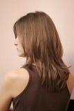 Menina traseira do retrato Foto de Stock Royalty Free
