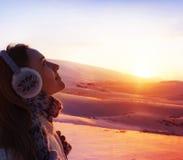 Menina Trekking Foto de Stock