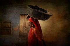 Menina tribal indiana de Pushkar fotografia de stock royalty free