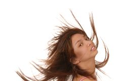 Menina triguenha asiática encantadora Fotografia de Stock Royalty Free