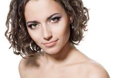 Menina triguenha bonita fotografia de stock royalty free