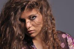 Menina triguenha 'sexy' imagem de stock royalty free