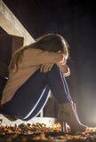 Menina triste Fotos de Stock Royalty Free