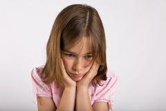 Menina triste Fotografia de Stock Royalty Free