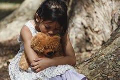 Menina triste adorável Imagens de Stock