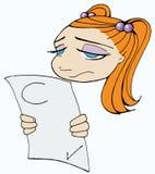 Menina triste da escola Imagem de Stock
