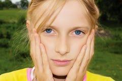Menina triste do adolescente Imagem de Stock