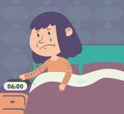 Menina triste que levanta-se Foto de Stock