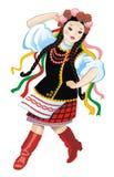 A menina ucraniana Fotografia de Stock