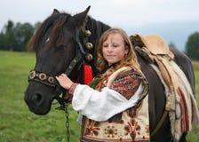Menina ucraniana nova Fotografia de Stock Royalty Free