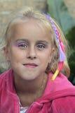 A menina vai ao disco dos miúdos Fotos de Stock Royalty Free