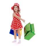 A menina vai comprar Fotos de Stock