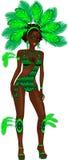 Menina verde do carnaval ilustração do vetor