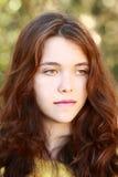 Menina vermelha bonita da porcelana do cabelo Imagem de Stock Royalty Free