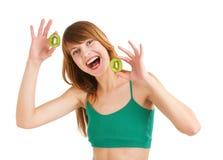 Menina vermelha e verde Imagens de Stock Royalty Free