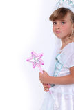 Menina vestida como a princesa Imagem de Stock