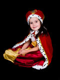 Menina vestida como a rainha Imagem de Stock Royalty Free