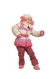 Menina vestida no inverno Imagem de Stock Royalty Free