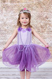 A menina vestiu-se na princesa Imagens de Stock