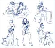 Meninas Fotografia de Stock