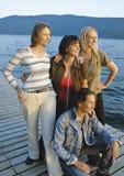 Meninas 9 fotos de stock royalty free