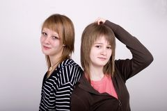 Meninas adolescentes Fotografia de Stock Royalty Free