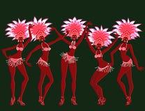 Meninas alegres do carnaval Fotos de Stock Royalty Free