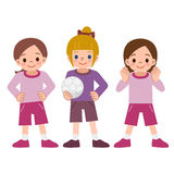 Meninas ao futebol Fotos de Stock