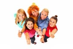 Meninas aprovadas Imagens de Stock Royalty Free
