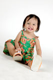 Meninas asiáticas pequenas Imagem de Stock
